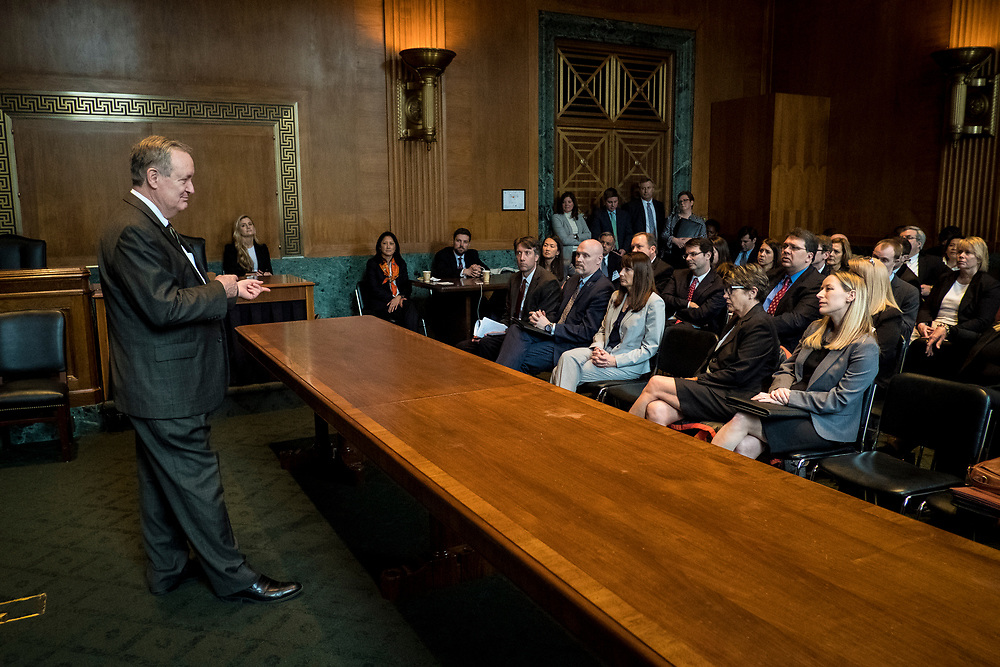 Senator Mike Crapo (R-ID) speaks to CSBS members during the 2017 CSBS Fly-In on Capitol Hill in Washington, D.C. on March 30, 2017.