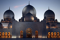 OCT 21 2013 Sheikh Zayed Grand Mosque. Popstar Rihanna was asked to leave