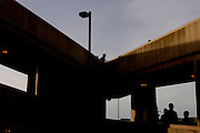 Pedestrians file into the U.S. at the San Ysidro, Calif. entry point on Saturday, March 26, 2005.<br />