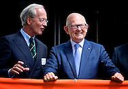 DEN HAAG - Prof. mr. Pieter van Vollenhoven opent vrijdagmiddag 30 mei de tentoonstelling 'Nederland Golft!' ter gelegenheid van het honderdjarig bestaan van de Nederlandse Golf Federatie in het Haags Historisch museum in Den Haag. COPYRIGHT ROBIN UTRECHT
