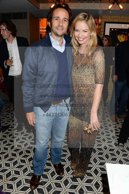 MATT & MARISSA HERMER at the Launch of Pont St Restaurant at Belgraves Hotel, 20 Chesham Place, London SW1 on 10th September 2013.