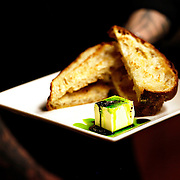 "SHOT 2/20/12 6:19:03 PM - The ciabatta appetizer at TAG restaurant on Larimer Square in downtown Denver, Co. TAG is owned and operated by chef/owner Troy Guard. TAG features what they term ""continental social food"" and features influences from numerous continents. .(Photo by Marc Piscotty / © 2012)"