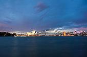 Sydney harbour at dusk and night Images | Sydney harbour bridge & Sydney opera House