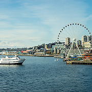 View from ferry deck, Seattle WA.