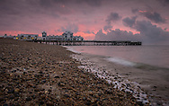 Sunrise over South Parade Pier in Southsea