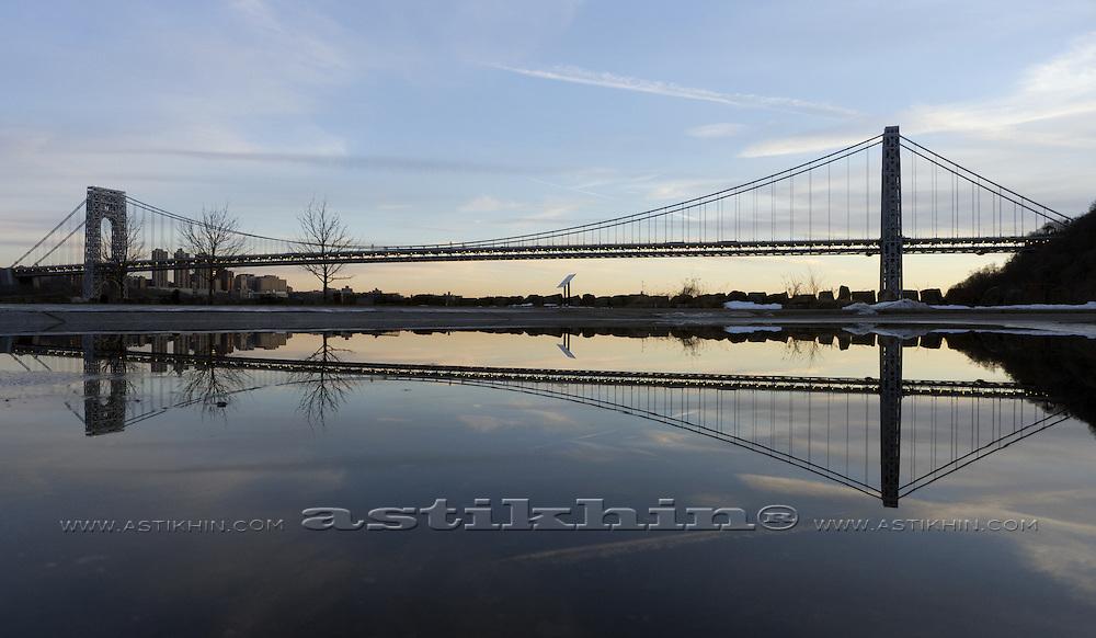The George Washington Bridge from New Jersey.