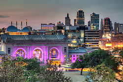 Downtown Kansas City skyline view from near Liberty Memorial, Friday August 10, 2012.