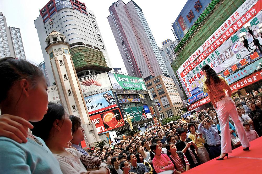A fashion show in Chongqing.