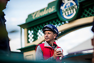 ARCADIA, CA - OCTOBER 29: Hall of Fame jockey, Mike Smith at Clockers Corner at Santa Anita Park on October 29, 2016 in Arcadia, California. (Photo by Alex Evers/Eclipse Sportswire/Getty Images)