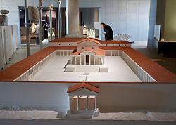 Exhibit inside the new Gallo-Roman Museum in Tongeren in Belgium