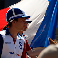World horseball championship, La Rural Buenos Aires, Argentina 2006, copa Cardon.Members of the france national team at the opening ceremony