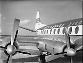 1958 - Tail section of Aer Lingus Viscount EI-AJK at Dublin Airport