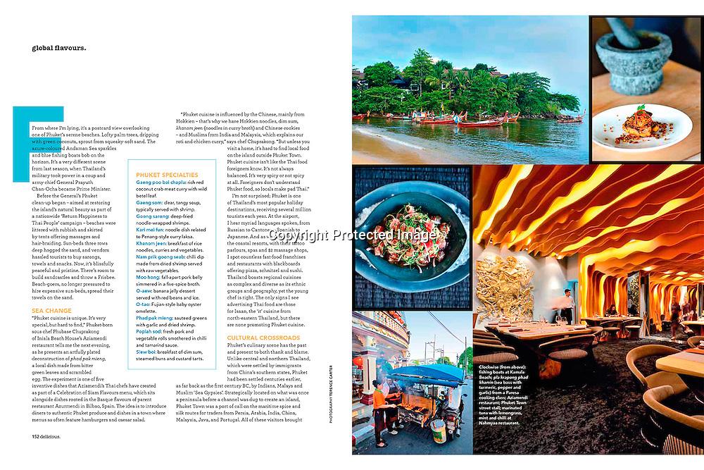 Delicious Magazine (Australia), Global Flavours, Phuket, Thailand.