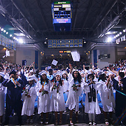 Delcastle high school students celebrate during Delcastle Forty-Sixth commencement exercises Tuesday, May 26, 2015, at The Bob Carpenter Sports Convocation Center in Newark, Delaware