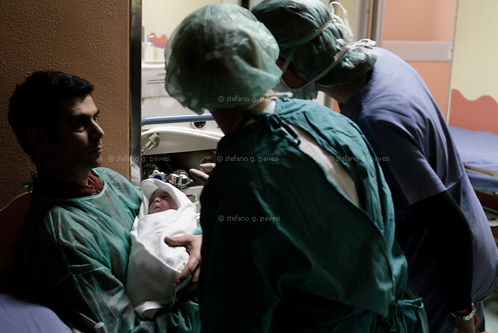 Childbirths in neo-natal Unit at 'Mangiagalli' Hospital, Milan