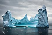 Pinnacle iceberg in the Southern Ocean, February, 2007.