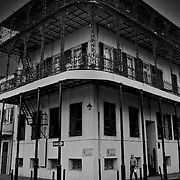 French Quarter corner in the morning, New Orleans, Louisiana
