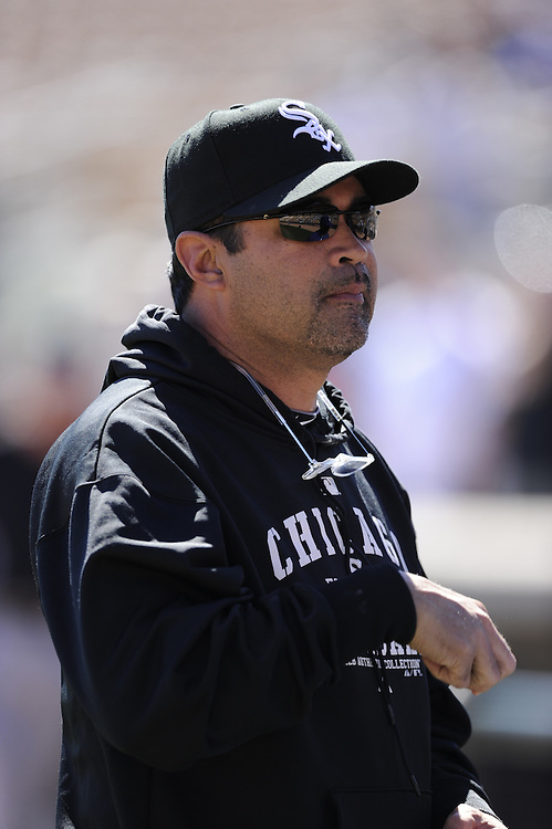 GLENDALE, AZ - FEBRUARY 28:  Manager Ozzie Guillen #13 of the Chicago White Sox looks on prior to the game against the Los Angeles Dodgers on February 28, 2011 at The Ballpark at Camelback Ranch in Glendale, Arizona. The Dodgers defeated the White Sox 6-5.  (Photo by Ron Vesely)