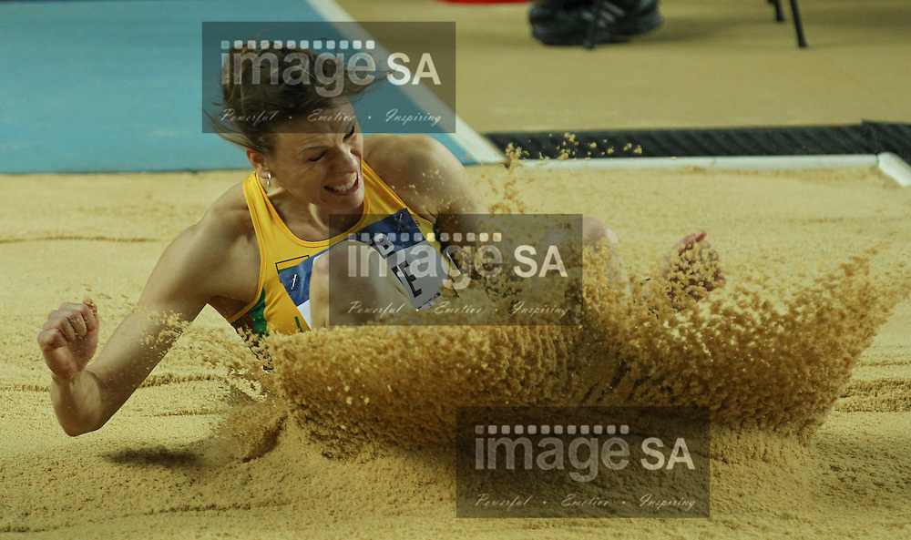 ISTANBUL, TURKEY: Friday 9 March 2012, Austra Skujyte -LTU- of Lithuania, in the pentathlon's women's long jump during the evening session of Day 1 at the IAAF World Indoor Championships being held at the Atakoy Athletics Arena in Istanbul..Photo by Roger Sedres/ImageSA