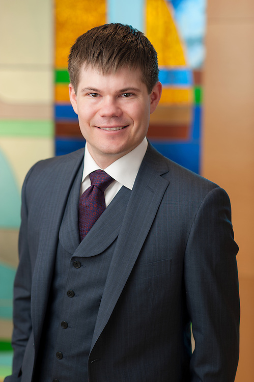 Business portrait of lawyer Trevor-Ference for Lawson Lundell.