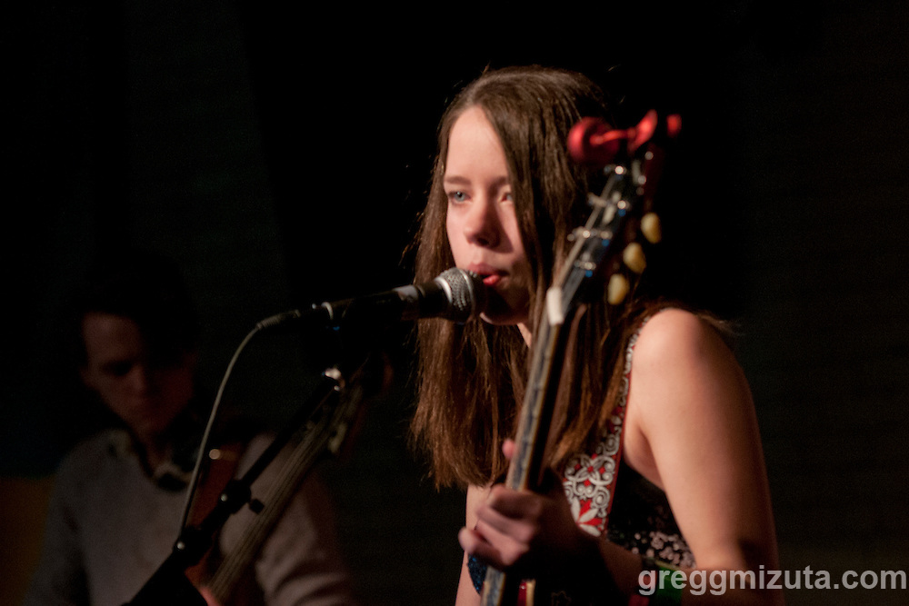 Ana Lete performs at the Linen Building during Day 3 of the Treefort Music Fest on March 25, 2016 in Boise, Idaho. (Gregg Mizuta/greggmizuta.com)<br /> <br /> Ana Lete (vocals &amp; guitar) Ashton Jenicek (bass &amp; keyboard), Gavin Peterson (cajon &amp; drums)