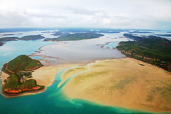 Aerial view of Turtle Reef in Talbot Bay on the Kimberley coast.