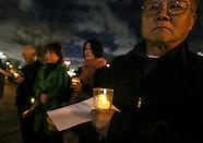 Candlelight vigil support of 'Comfort Women'