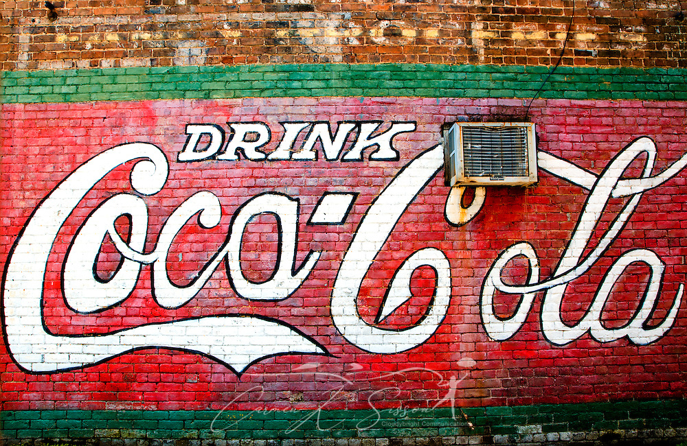 Coca cola mural water valley mississippi carmen k for Coca cola wall mural