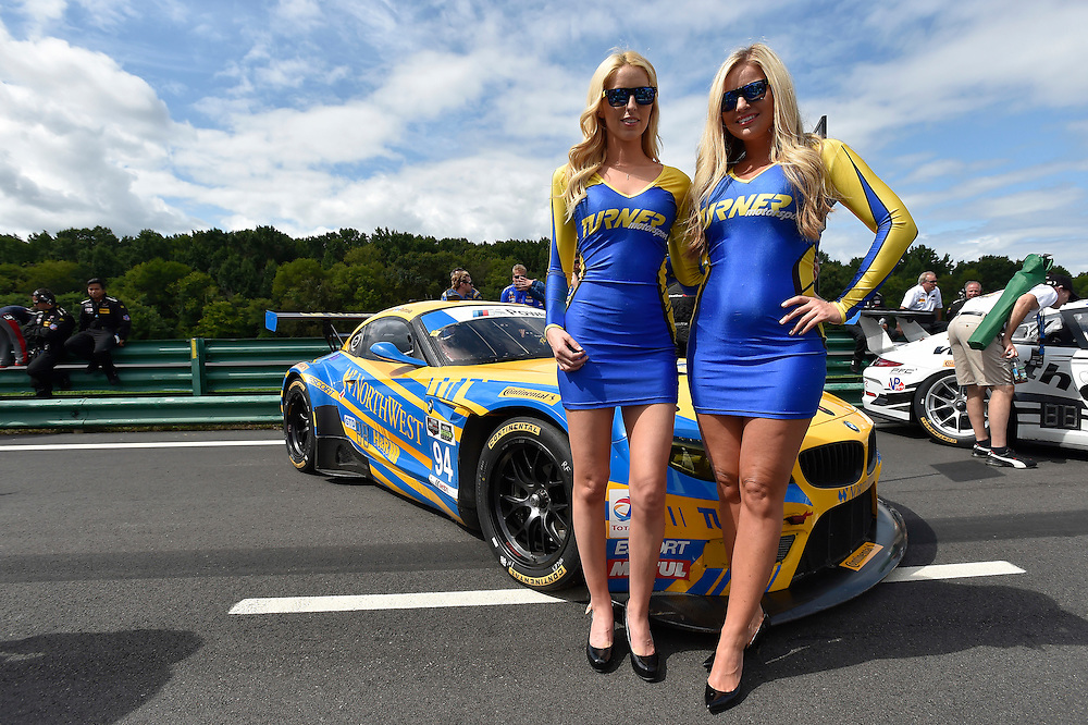 22-24 August 2014, Alton, Virginia USA<br /> 94, BMW, Z4, GTD, grid girl<br /> &copy;2014, Scott R LePage <br /> LAT Photo USA