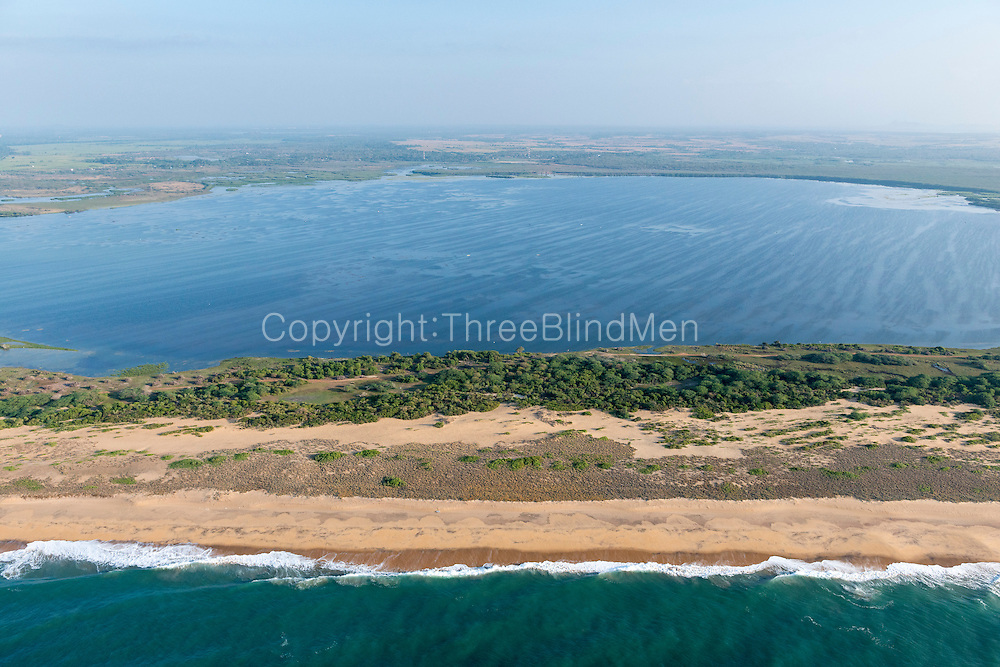 The Island from Above. South Coast between near Hambantota.