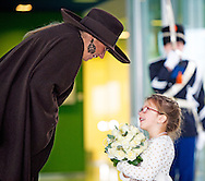 BADHOEVEDORP- NETHERLANDS – 26-11-2013 – Queen maxima opens the Queen maxima militairy base in at Schiphol . COPYRIGHT ROBIN UTRECHT