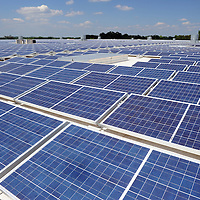 Shoe Show corporate headquarters' million square feet of roof space will eventually support a 5-plus megawatt solar project, designed and installed by Mooresville-based SunEnergy1. The first phase of the project  is complete, and produces 1.65 megawatts of power.