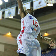 Delaware 87ers Forward Rahlir Hollis-Jefferson (15) drives towards the basket in the first half of a NBA D-league regular season basketball game between the Delaware 87ers (76ers) and the Sioux Falls Skyforce (Miami Heat) Tuesday, Dec. 2, 2014 at The Bob Carpenter Sports Convocation Center in Newark, DEL
