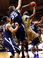 WEST LAFAYETTE, IN - DECEMBER 01: Terone Johnson #0 of the Purdue Boilermakers shoots the ball against Erik Stenger #35 of the Xavier Musketeers at Mackey Arena on December 1, 2012 in West Lafayette, Indiana. (Photo by Michael Hickey/Getty Images) *** Local Caption *** Terone Johnson; Erik Stenger