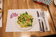 Ballard Elks Club. Salad course of a steak dinner honoring the recipients of the Ballard Elks' college scholarships. <br /> <br /> Matt Lutton / Boreal Collective for Buzzfeed
