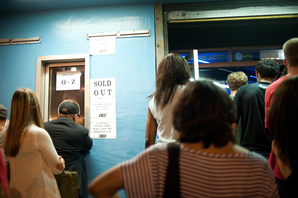 Fans waiting to get into the sold-out show.
