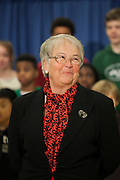 Mayor-Elect Bill de Blasio announces his appointment of Carmen Fari&ntilde;a, pictured, as Schools Chancellor at William Alexander Middle School in Park Slope, Brooklyn, NY on Monday, Dec. 30, 2013.<br /> <br /> CREDIT: Andrew Hinderaker for The Wall Street Journal<br /> SLUG: NYSTANDALONE