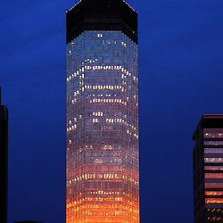 IDS Tower Minneapolis with dramatic lighting