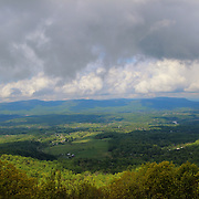 &quot;Farms of Shenandoah Valley&quot;<br /> <br /> Beautiful mountains and valley scene in Shenandoah National Park!<br /> <br /> The Blue Ridge Mountains by Rachel Cohen