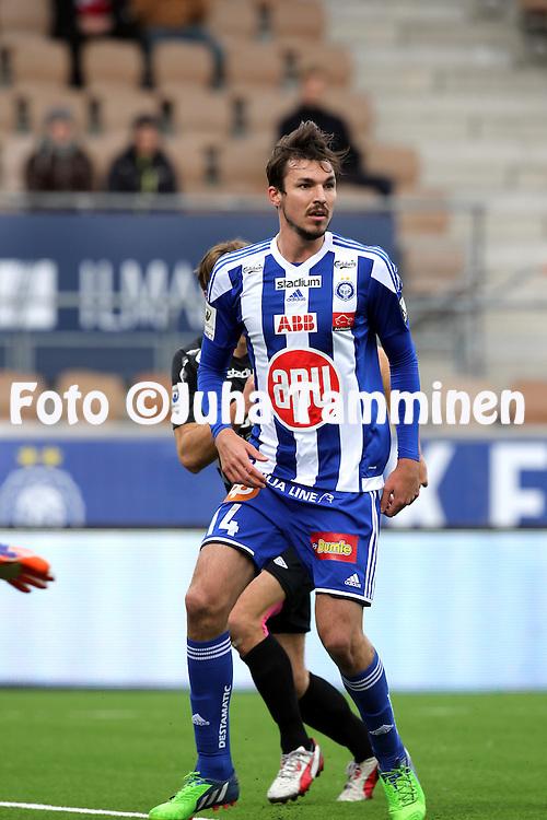 19.4.2015, Sonera stadion, Helsinki.<br /> Veikkausliiga 2015.<br /> Helsingin Jalkapalloklubi - FC Lahti..<br /> MIke Havenaar - HJK