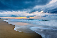 Early morning sky over the beach at Ocracoke Island on the Outer Banks, NC.