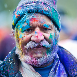 London, UK - 23 March 2013: the Holi Spring Festival of Colour takes place at Orleans House Gallery in Twickenham. The annual event marks the end of Winter and welcomes the joy of spring.