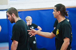 Shlomi Moyal, senior Krav Maga instructor, takes the students on their first day seminar in an introduction to Krav Maga for civilians. The IKMF Train & Travel in Israel is a unique ten day program designed for IKMF's instructors, students & guests, interested in combining Krav Maga training with a tour of the holy land. Friday, 31st December 2010 at the Olympic shooting academy.