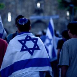 Celebrating Yom Yerushalayim (Jerusalem Day), Old City, Jerusalem, Israel