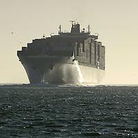 Cargo vessel . San Francisco Bay, California, United States