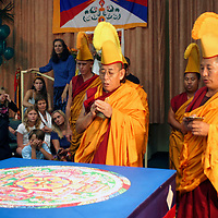 "The Monks of Gaden Shartse Monastery Tour ""Sacred Earth and Healing Arts of Tibet"" in Encinitas, California. Note: A portion of the proceeds from the sale of this image will be donated to the Monks of Gaden Shartse.  Please respect that licensing of this image is limited - approval for use must be granted by the photgrapher."