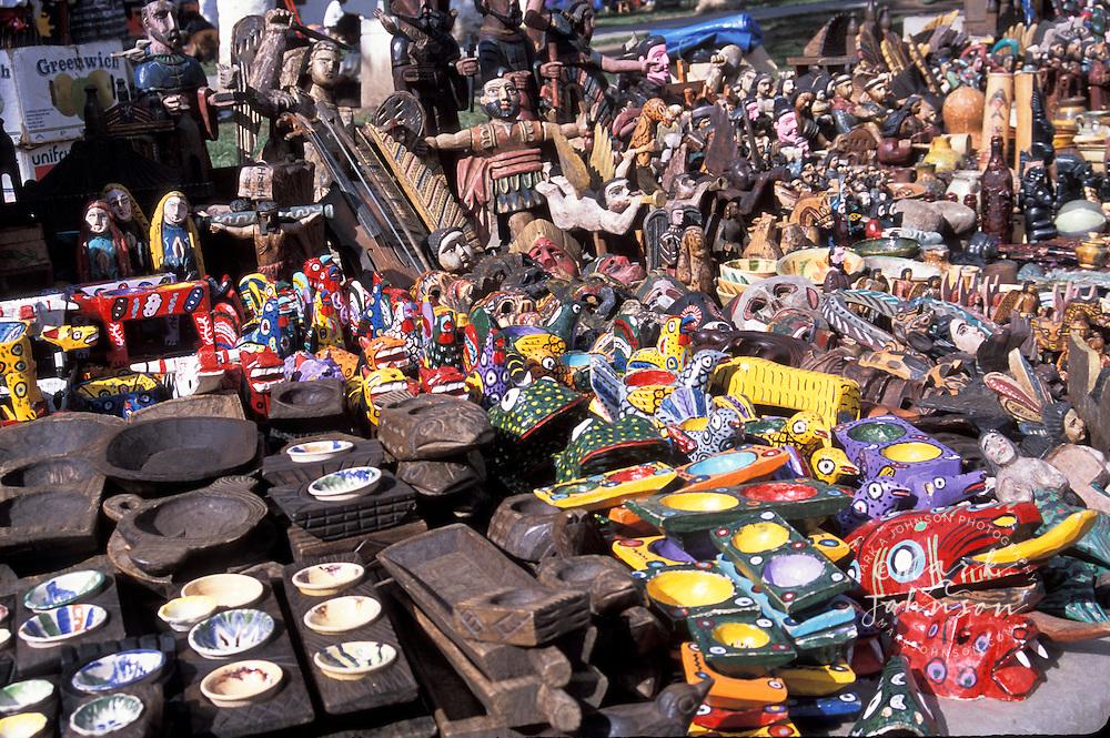 Crafts in local market, Antigua, Guatemala