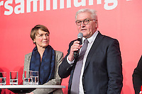 11 FEB 2017, BERLIN/GERMANY:<br /> Elke Buedenbender (L), Ehefrau von Steinmeier, und Frank-Walter Steinmeier (R), SPD, Kandidat fuer das Amt des Bundespraesidenten, waehrend einem Empfang der SPD anl. der Bundesversammlung, Westhafen Event und Convention Center<br />  IMAGE: 20170211-03-049<br /> KWYWORDS: Elke B&uuml;denbender