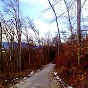 Road on Salzburg capuchin mountain