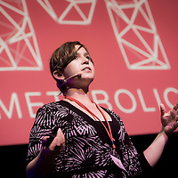 Brussels, Belgium 9 October 2014<br /> Urban Development Network conference.<br /> Eva Gladek, Founder and CEO of Metabolic.  <br /> Photo: Ezequiel Scagnetti